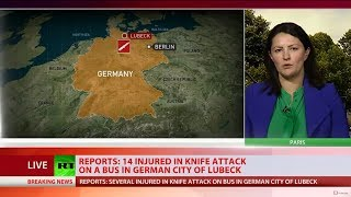 'It was carnage': 14 Injured in bus knife attack in German city of Luebeck - RUSSIATODAY