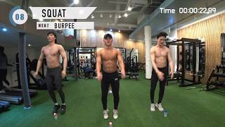 【EP1】4min TABATA with BLANC-Xfeat. 5 min LOWER BODY Workout