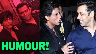Shahrukh Khan & Salman Khan's Humorous Conversation - Bollywood News