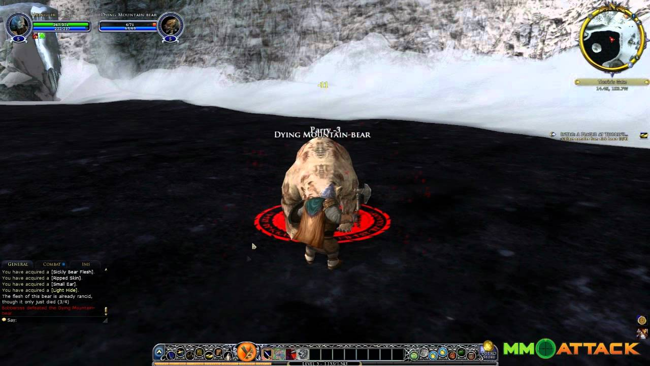 Lord of the Rings Online Gameplay Video