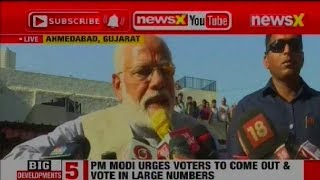 Lok Sabha Election 2019 Phase 3 Voting Day: PM Narendra Modi to media after voting in Ahmedabad - NEWSXLIVE