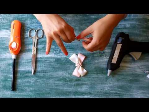 ¿Como hacer lazos/moños para el pelo? Muy Fácil. En 8min