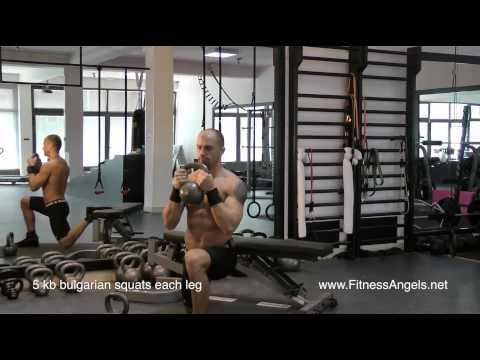 Napredni trening bez pauze sa girjama: rutina 2