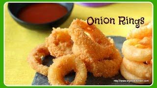 Onion Rings - Quick & Easy Snack Ideas - SRUTHISKITCHEN