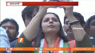 Actress Nagma Election Campaign For Congress Candidate Ravichandran Winning In Warangal | iNews - INEWS
