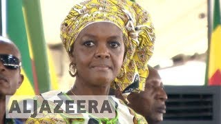 Protesters rally against Grace Mugabe at South Africa summit - ALJAZEERAENGLISH
