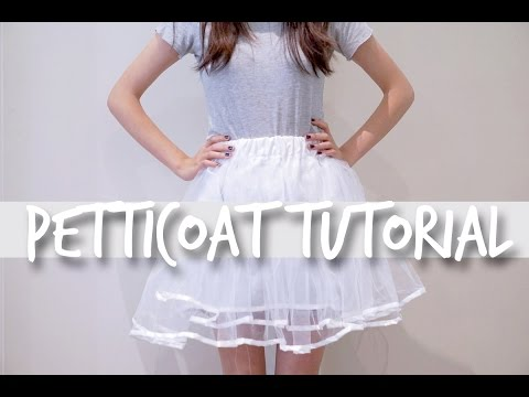How to Make a Petticoat Tutorial