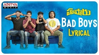 Husharu Lyrical Song | Bad Boys | Sunny M.R | Roll Rida | Sree Harsha Konuganti - ADITYAMUSIC