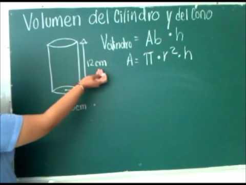 formulas de volumen cilindro y cono