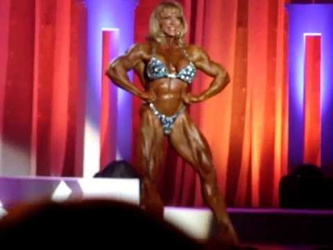 Betty Pariso - Oldest Female Bodybuilder Flexing and Posing