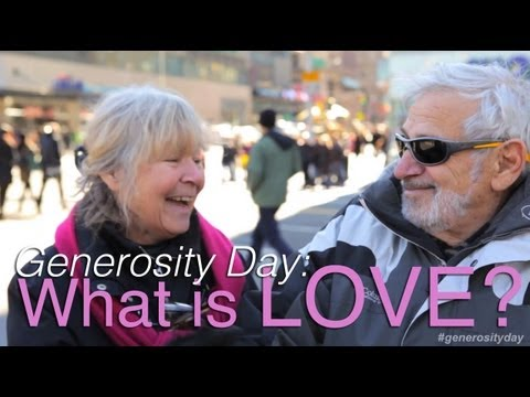 Generosity Day : What is Love? by Jubilee Project