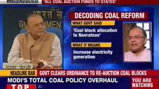 Government clears ordinance to re-auction coal blocks - NEWSXLIVE