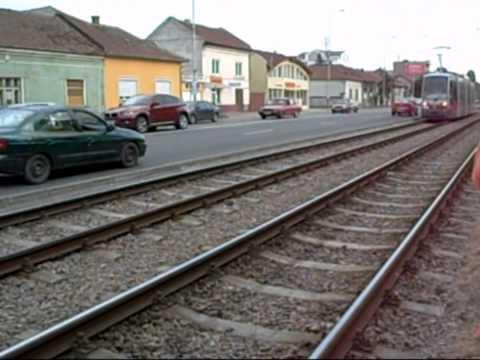 Tramvaie Siemens ULF in Oradea (16 07 2010)