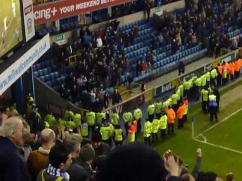 Blues fans at Millwall 14 1 12