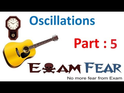 Physics Oscillations part 5 (Simple harmonic Motion) CBSE class 11