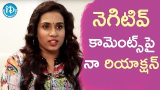 Chetana Uttej About How She Reacts To Negative Comments ||  Talking Movies With iDream - IDREAMMOVIES