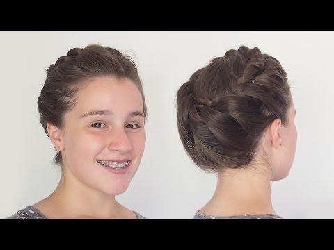 Greek Goddess Crown Braid Hairstyle for Long Hair