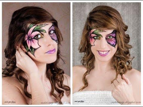 Maquillaje Fantasía   Mariposa y flor (Butterfly & Flower Fantasy Makeup)