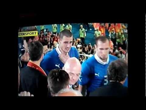 Euro 2012 Final, Italy's Tears. Pirlo, Bonucci,