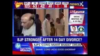 BJP : Congress has been reduced to the third place - NEWSXLIVE