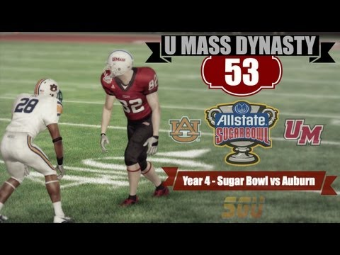 NCAA 13: U Mass Minutemen Dynasty - EP53 (Year 4, Sugar Bowl vs Auburn)