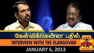 Best of Kelvikkenna Bathil : Interview with TKS Elangovan – Thanthi TV Show
