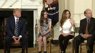 Trump Listens to Survivors of School Shootings - VOAVIDEO