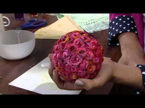 Mulher.com 28/05/2013 Rosely Ferraiol - Arte com filtro de café Parte 2/2
