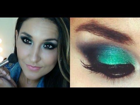 Maquiagem Verde e Azul Noite por FabulousVi