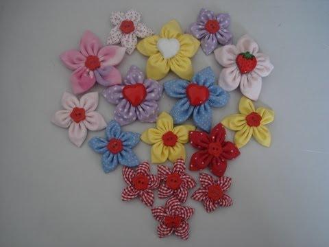Fuxico - Flor de fuxico pontudinha - Passo a passo - Tutorial - Diy