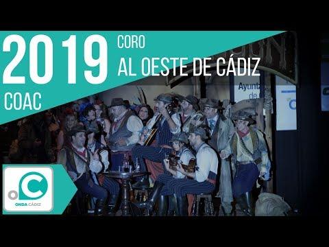 La agrupación Al oeste de Cádiz llega al COAC 2019 en la modalidad de Coros. En años anteriores (2018) concursaron en el Teatro Falla como La esquinita, consiguiendo una clasificación en el concurso de Preliminares.