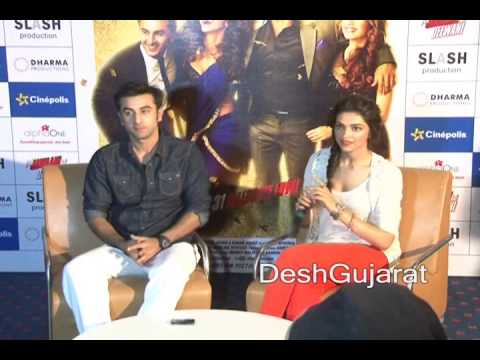 Ranbir Kapoor ,  Deepika Padukone speak on Yeh Jawaani Hai Deewani and more in Ahmedabad, Gujarat
