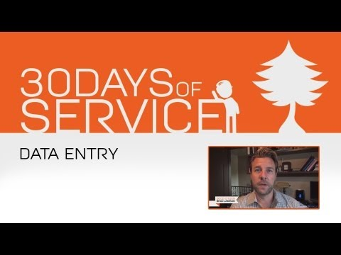 30 Days of Service by Brad Jamison: Day 24 - Data Entry