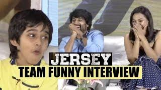 JERSEY team most funny interview || Nani || Shraddha Srinath || Ronit Kamra || Gowtam Tinnanuri - IGTELUGU