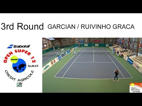 Victory of Garcian (FRA) over Ruivinho Graca (POR) - Open Super 12 Auray Tennis- Double garçons