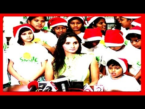 Sania Mirza becomes Santa Claus to Spread Smiles for Chirstmas 2012