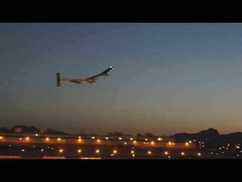 Solar Impulse Leaving Phoenix for Flight to Dallas - 5/22/2013