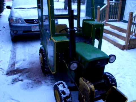 John Deere 110 Snow Cab Home Made