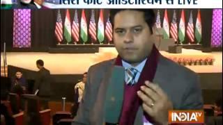 Tight security at Siri Fort Auditorium for Obama's visit - INDIATV