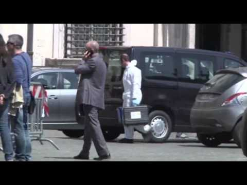 Raw: Two Italian Officers Shot in Public