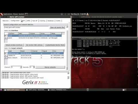 [HD] Backtrack 5 - Automated WEP Cracking with Gerix