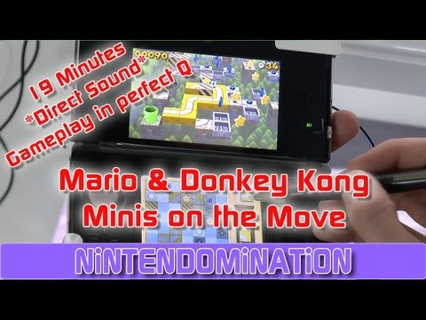 Mario & Donkey Kong: Minis on the Move - 19 MInutes *Direct Sound* Gameplay