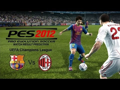 Barcelona 3-1 AC Milan 3/4/12 [Champions League Highlights] PES 2012 Vs FIFA 12