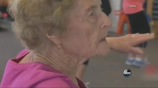 Great-Grandmother Hits the Gym Ten Times a Week | ABC News - ABCNEWS