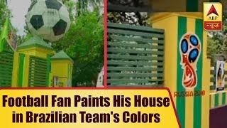 Football fan paints his house in Brazilian team's colors - ABPNEWSTV