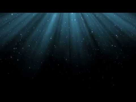 Blue Light Rays and Snow - HD Background Loop