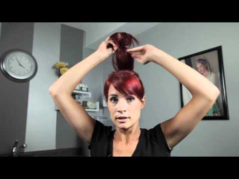How To Do Your Own Updo - Sock Bun - Version #2