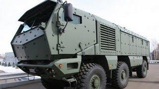 """بالفيديو.. شركة """"كاماز"""" الروسية تنتهي قريبا من اختبار عربة """"تايفون"""" المدرعة"""