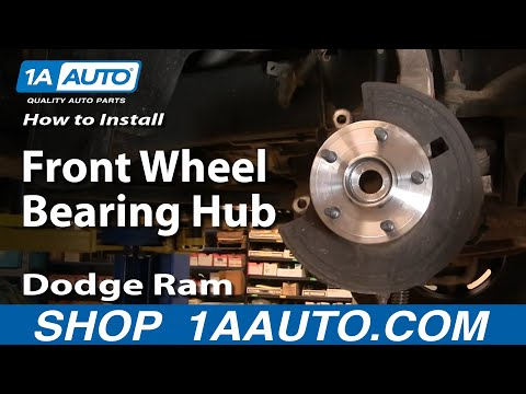 How To Install Repair Replace Front Wheel Bearing Hub Dodge Ram 1500 02-08 1AAuto.com