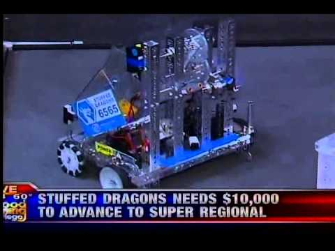 FTC Stuffed Dragons 6565 Robotics Team on KUSI - 2 - www.SDYouth.org